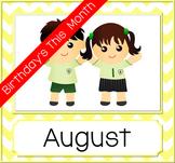 Birthday Month Photo Frame - Yellow