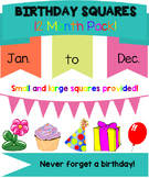 Birthday Month Squares (Back to school)