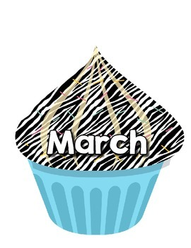 Birthday Monthly Cupcake Poster