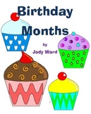 Birthday Months Posters for Birthday Chart