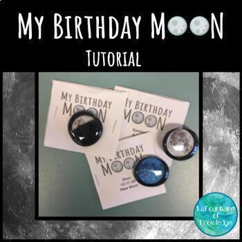 Birthday Moon Phase Magnet Craft