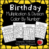 Birthday Multiplication and Division Color by Number