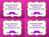 Birthday Mustache Cards
