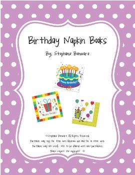 Birthday Napkin Books