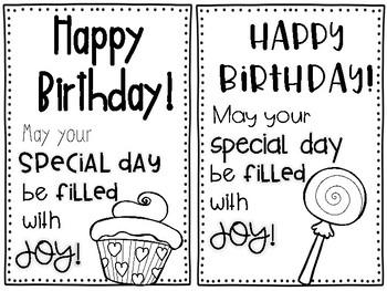 Birthday Student Message FREEBIE