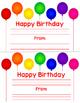 Birthday Notes