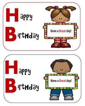 Birthday Notes and Book Marks to Give As a Gift to Students