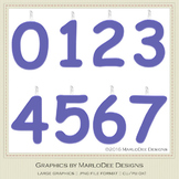 Birthday Number Candle Graphics Blue 3