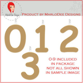 Birthday Number Candle Graphics Dark Gold