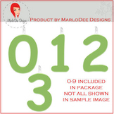 Birthday Number Candle Graphics Green 1