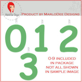 Birthday Number Candle Graphics Green 2
