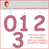 Birthday Number Candle Graphics Pink