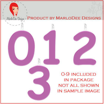 Birthday Number Candle Graphics Purple