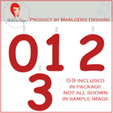 Birthday Number Candle Graphics Red