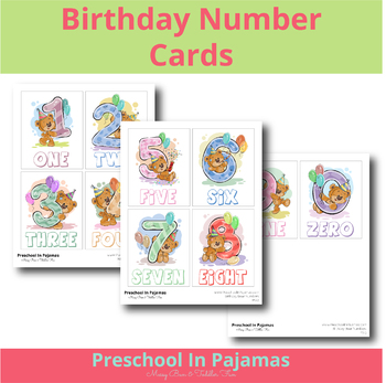 Birthday Number Card Set