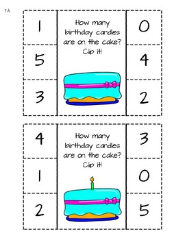 Birthday Number Recognition 0 to 5