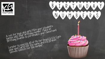 Birthday Numbers (editable)