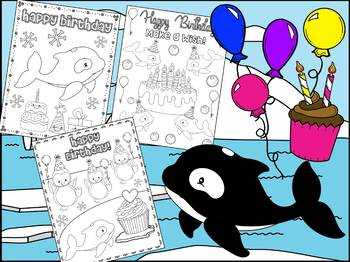 Birthday Orcas - The Crayon Crowd Coloring Pages, Orca, Killer Whales