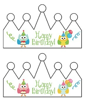 Birthday Chart: Owls (Editable)