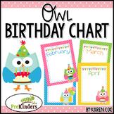 Birthday Chart: Owls (Editable)