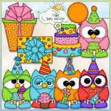 Birthday Owls Clip Art - Birthday Clip Art - Party Clip Ar