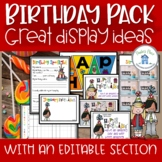 Birthday Display Pack with an editable section