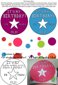 Birthday Pack: Editable: Low Prep Birthday Fun!