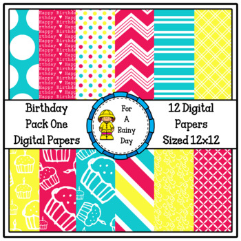 Birthday Pack One Digital Papers