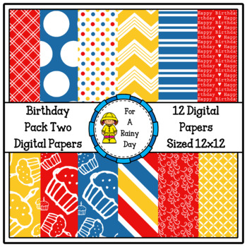 Birthday Pack Two Digital Papers