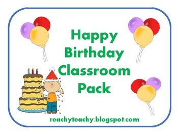 Birthday Pack for Teachers