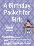 Birthday Packet for Girls