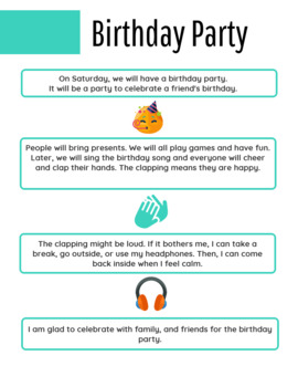 Birthday Parties-Social Narrative