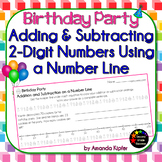 Birthday Party Adding and Subtracting 2-Digit Numbers on a Number Line