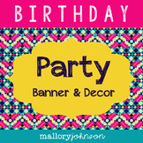 Birthday Party Packet - Banner, Gift Tags, Water Bottle La
