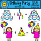 Birthday Party Clip Art (Block-Head Kids)