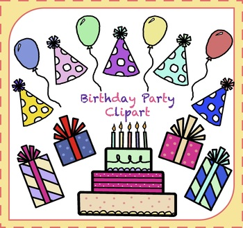 Birthday Party Clipart {Party Clipart}