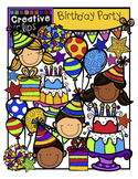 Birthday Party {Creative Clips Digital Clipart}