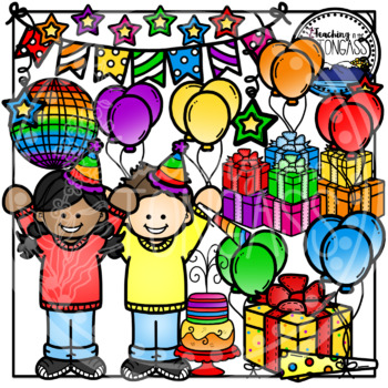 Birthday Party Clipart Bundle