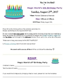 Birthday Party Invitation - Early Learning Center