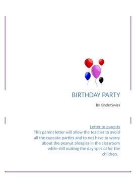 birthday party letter to parents cupcake alternative birthday party letter to parents cupcake alternative