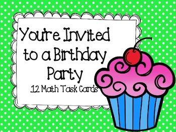 Birthday Party Math