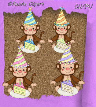 Birthday Party Monkey 1