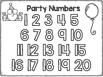 Birthday Party Number Bin