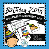 Birthday Party: Open Ended Reinforcement Game for Mixed Speech Therapy Groups