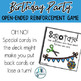 Birthday Party: Open Ended Reinforcement Game: Great for S