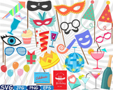 Birthday Party Photo Booth Props clip art Celebration happy new year shirt -273s
