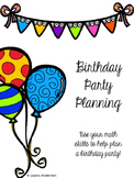 Birthday Party Planning