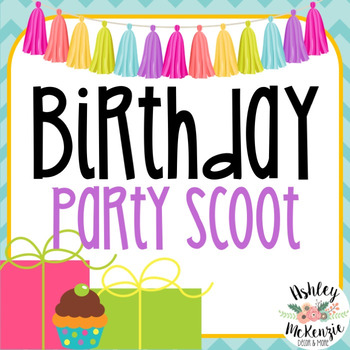 Birthday Party Scoot Activity! (30 Cards)