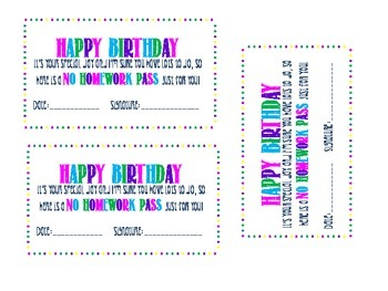 Birthday Passes