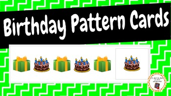 Patterns: Birthday Pattern Cards